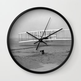 Wright Brothers First flight Kitty Hawk North Carolina December 17 1903 Wall Clock