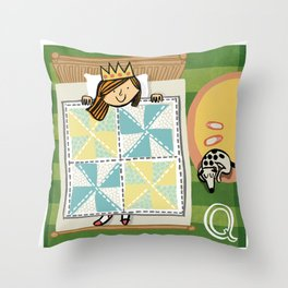 """Q"" Throw Pillow"