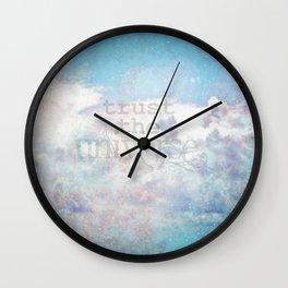 Trust the Universe III Wall Clock