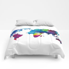 World Map - Colorful Comforters