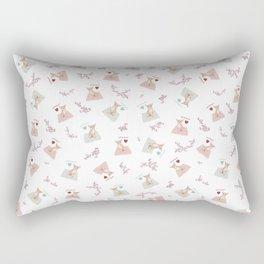 Small dog Big love, white Rectangular Pillow