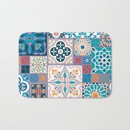 Geometric tiles Bath Mat