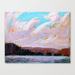 Tom Thomson - Pink Clouds - Canada, Canadian Oil Painting - Group of Seven Canvas Print