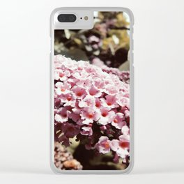 Vintage Buddleia Clear iPhone Case