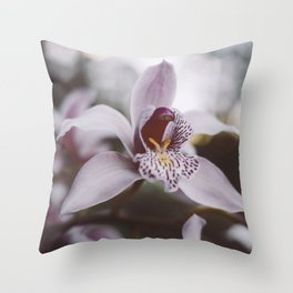 FOREST ORCHID Throw Pillow