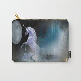 Night magic unicorn surrealism digital art Carry-All Pouch