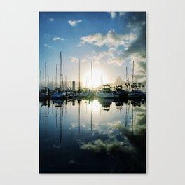 mirrored marina Canvas Print