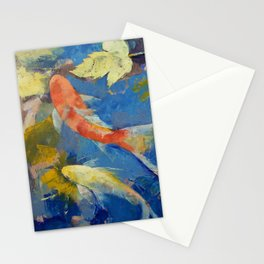 Autumn Koi Garden Stationery Cards