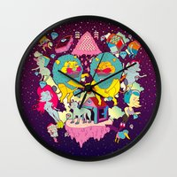 yetiland Wall Clocks featuring celebración by ALVAREZ