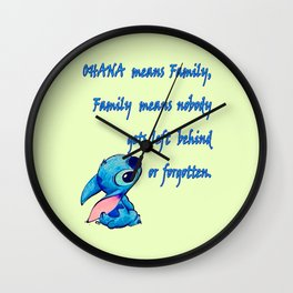 Lilo & Stitch - Ohana Quote Wall Clock