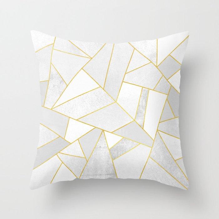 White Stone Throw Pillow