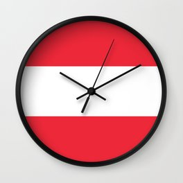 Flag of  Austria - High quality HD authentic version Wall Clock