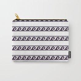 Purple Greek wave pattern Carry-All Pouch