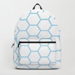 Geometric Honeycomb Pattern - Blue #370 Backpack