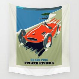 Retro style auto Grand Prix Rivièra Wall Tapestry