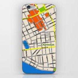Map of Charleston, SC iPhone Skin