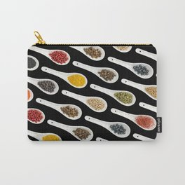 Spice spoons on black Carry-All Pouch