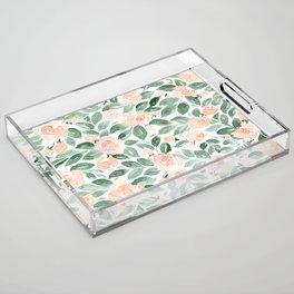 """Loose watercolor florals, """"Miriam"""" Acrylic Tray"""