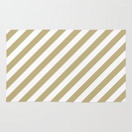 Diagonal Stripes (Sand/White) Rug