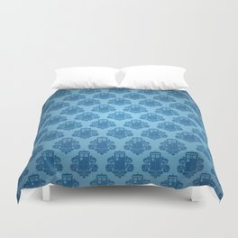 Blue Tardis Pattern Duvet Cover