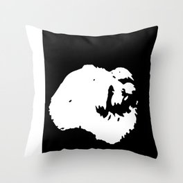 White-and-black dog Throw Pillow
