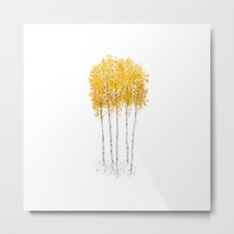Yellow Trees Metal Print