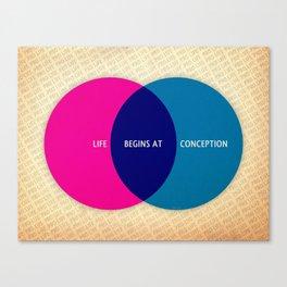 Life Begins At Conception Canvas Print