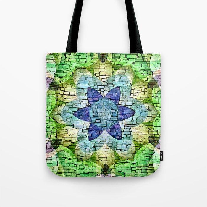 b446a97577 Stone Flower Kaleidoscope Mosaic Tote Bag by laurenwdesign | Society6