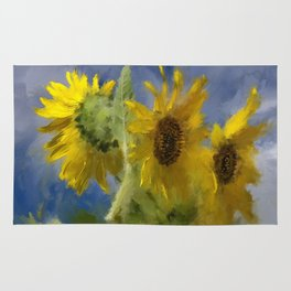 An Impression Of Sunflowers In The Sun Rug