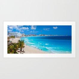 Cancun Coast Art Print