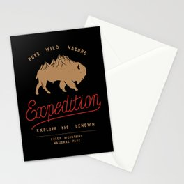 Bison Mountain Expedition Stationery Cards