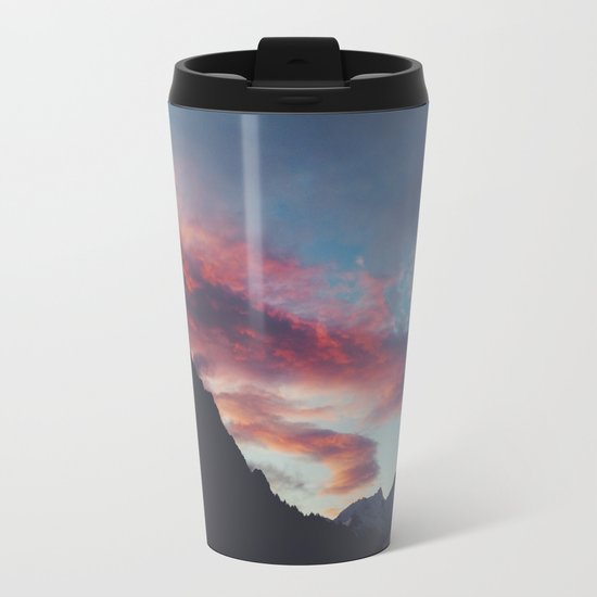 pink mountain Metal Travel Mug