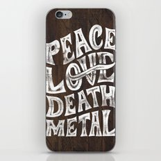 Peace Love Death Metal iPhone & iPod Skin