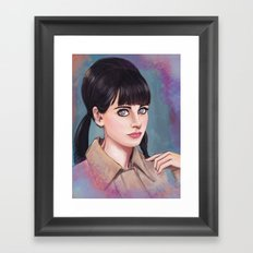 The  New Girl Framed Art Print