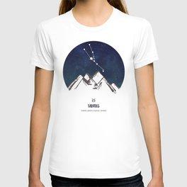 Astrology Taurus Zodiac Horoscope Constellation Star Sign Watercolor Poster Wall Art T-shirt