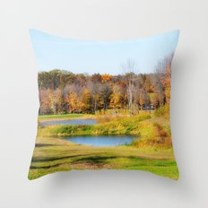 Fall at the Ponds Throw Pillow
