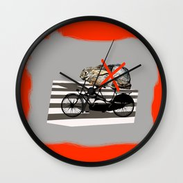 NO RABBITS ON TANDEM BICYCLE Wall Clock