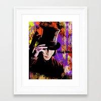 willy wonka Framed Art Prints featuring Willy Wonka  by Zoé Rikardo