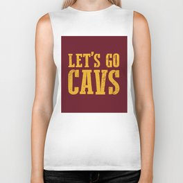 Let's Go CAVS NBA Design Biker Tank