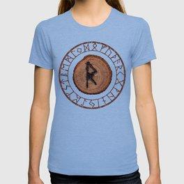 Raidho Elder Futhark Rune Travel, journey, vacation, relocation, evolution, change of place T-shirt