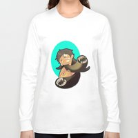 castiel Long Sleeve T-shirts featuring Castiel by oh, wolves