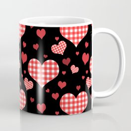Red Gingham Hearts Coffee Mug