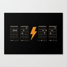 ACDC Back in Black Canvas Print