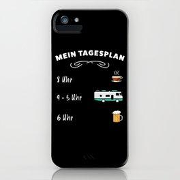Der Tagesplan: Kaffee, Wohnmobil & Bier iPhone Case