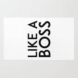 Like A Boss Print, Faux Gold Leaf Art, Inspirational Quote, Typographic Print, Motivational Print, G Rug