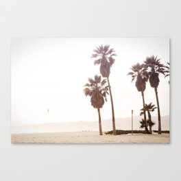 Vintage Summer Palm Trees Canvas Print