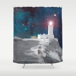 THE INTERSTELLAR LIGHTHOUSE Shower Curtain