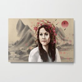 Lady Sakura Metal Print