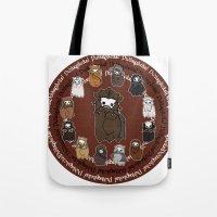 nori Tote Bags featuring Dwarpacas(Nori) by Lady Cibia