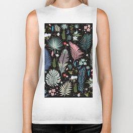 Magic Garden / Floral Pattern Biker Tank